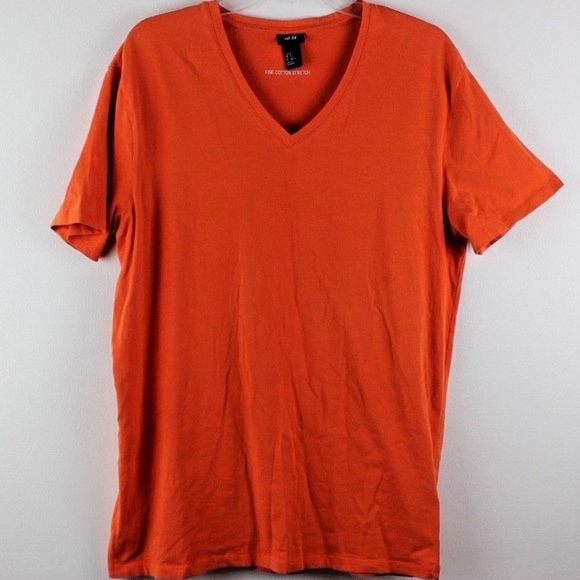 H&M Tops - H & M Fine Cotton Stretch V-Neck T Very Soft XL